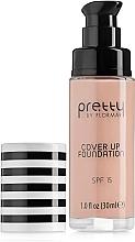 Perfumería y cosmética Base de maquillaje cremosa, SPF15 - Flormar Pretty Cover Up Foundation