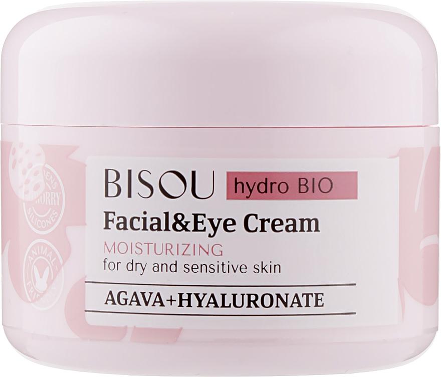Crema hidratante para rostro y contorno de ojos con ácido hialurónico - Bisou Hydro Bio Facial Eye Cream