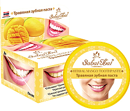 Perfumería y cosmética Pasta dental a base de mango - Sabai Thai Herbal Mango Toothpaste