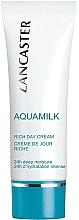 Perfumería y cosmética Crema de día hidratante con extracto de arroz y jugo de coco - Lancaster Aquamilk Rich Day Cream Riche