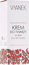 Perfumería y cosmética Crema facial con extracto de trébol rojo para pieles grasas - Vianek