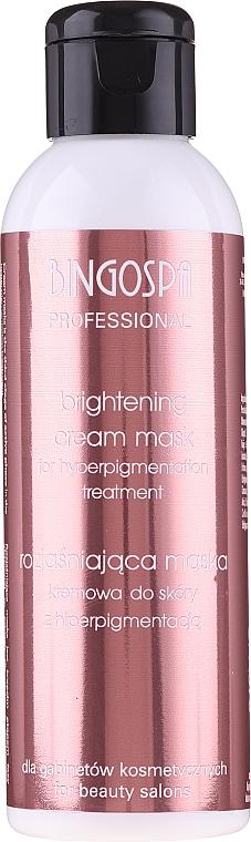 Mascarilla crema profesional hiperdespigmentante para rostro, cuello y escote sin aclarado - BingoSpa Artline Decoloration Cream Mask