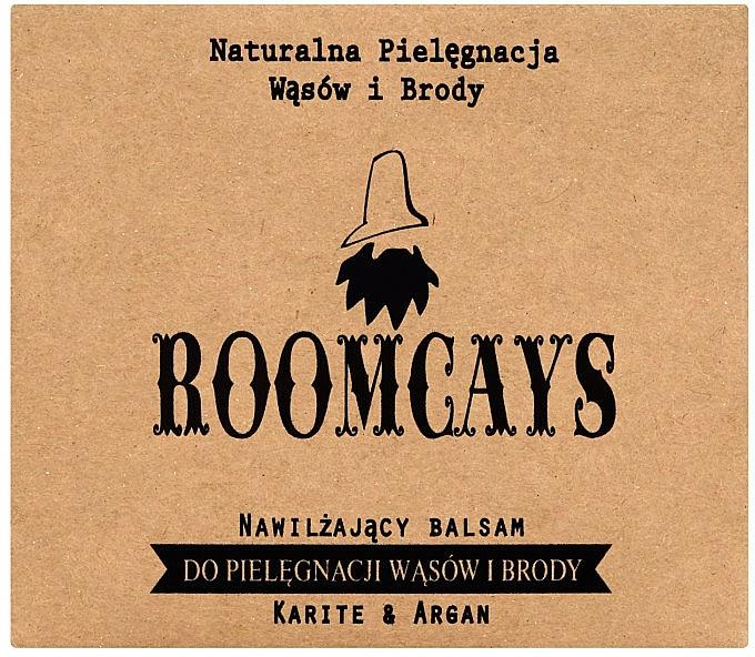 Bálsamo hidratante para barba y bigote con manteca de karité y aceite de argán - Roomcays