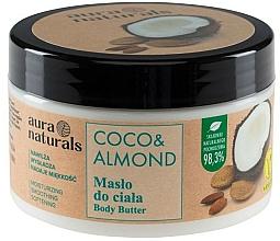 Perfumería y cosmética Manteca corporal hidratante con coco y almendra, vegana - Aura Naturals Coco & Almond Body Butter
