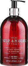 Perfumería y cosmética Jabón de manos líquido con aroma a pimienta negra & ginseng - Baylis & Harding Black Pepper & Ginseng Hand Wash
