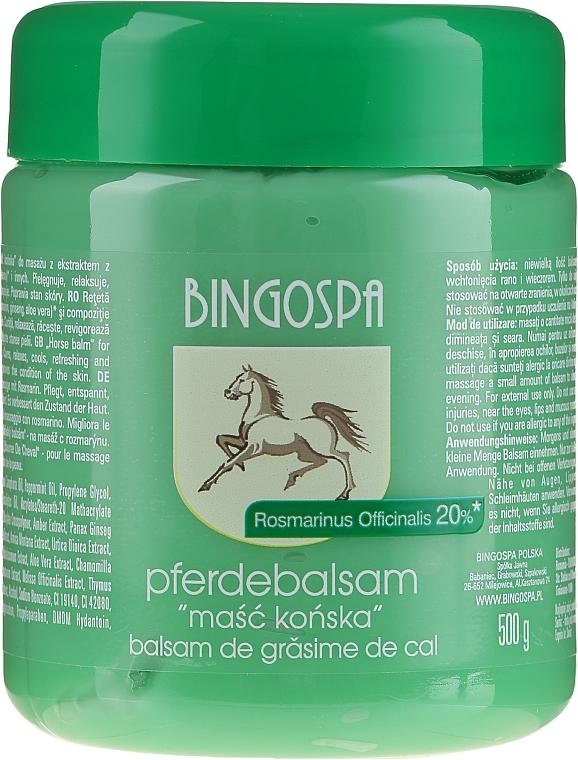 Bálsamo corporal con extracto de romero y aceites esenciales - BingoSpa Ointment Horse With Rosemary