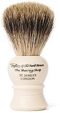 Perfumería y cosmética Brocha de afeitar artesanal con cerdas de tejón, P2233, beige, talla S - Taylor of Old Bond Street Shaving Brush Pure Badger size S