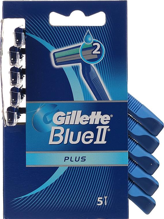 Maquinillas de afeitar desechables, 5uds. - Gillette Blue II Plus Sensitive