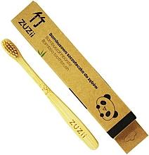 Perfumería y cosmética Cepillo de dientes suave de bambú para niños, beige - Zuzii Kids Soft Toothbrush
