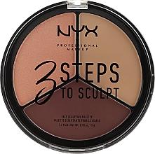 Perfumería y cosmética Paleta de contorno facial - NYX Professional Makeup 3 Steps To Sculpting Palette