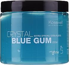 Perfumería y cosmética Gel de fijación extra fuerte con aceite de ricino - Kosswell Professional Dfine Crystal Blue Gum