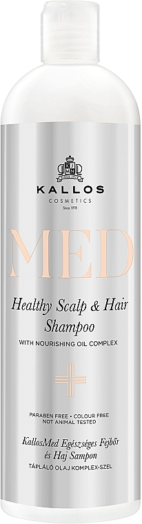 Champú nutritivo para cuero cabelludo con aceite de argán y coco - Kallos Cosmetics MED Healthy Scalp & Hair Shampoo