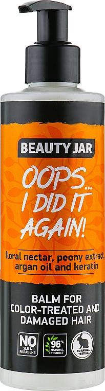 Acondicionador con extracto de peonia, aceite de argán y queratina - Beauty Jar Oops I Did It Again