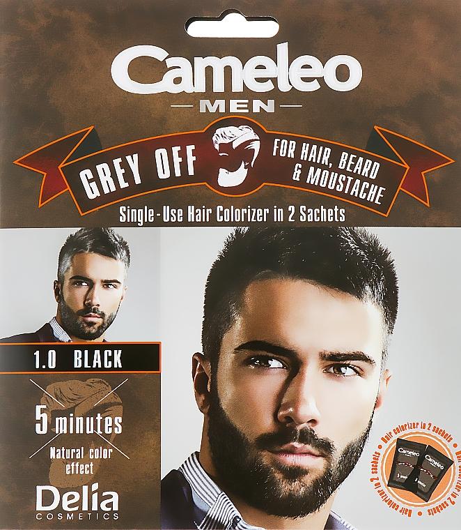 Tinte para bigote, barba y cabello, coloración instantánea (oxidante incluido) - Delia Cameleo Men