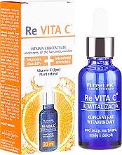 Perfumería y cosmética Concentrado vitamínico para contorno de ojos, rostro y escote - Floslek Re Vita C Concentrate With Vitamin C