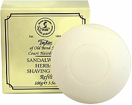 Perfumería y cosmética Jabón de afeitar con aroma a sándalo (recarga) - Taylor Of Old Bond Street Sandalwood Herbal Shaving Soap Refill