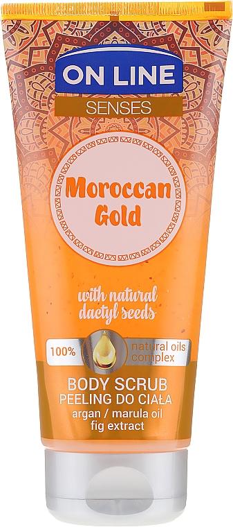 Exfoliante corporal con extracto de higo & aceites de argán & marula - On Line Senses Body Scrub Moroccan Gold