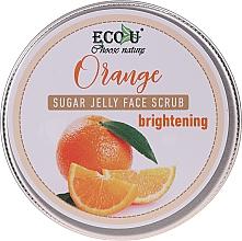 Perfumería y cosmética Exfoliante facial iluminador con naranja - Eco U Orange Brightening Sugar Jelly Face Scrub