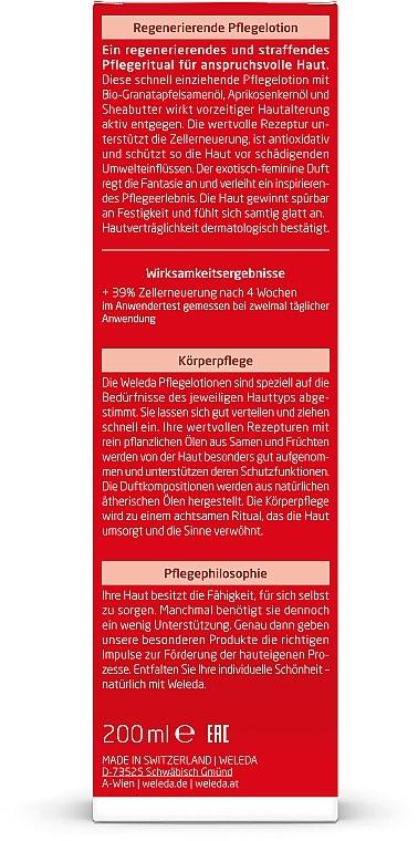 Loción corporal regeneradora con extracto de granada - Weleda Granatapfel Regenerierende Pflegelotion — imagen N4