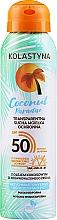 Perfumería y cosmética Spray protector solar transparente para rostro y cuerpo, SPF50 - Kolastyna Coconut Paradise SPF50