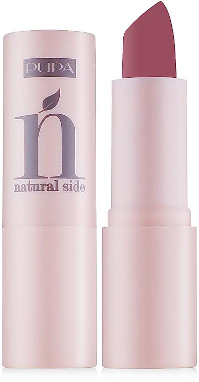 Barra de labios hidratante altamente pigmentada - Pupa Natural Side Lipstick