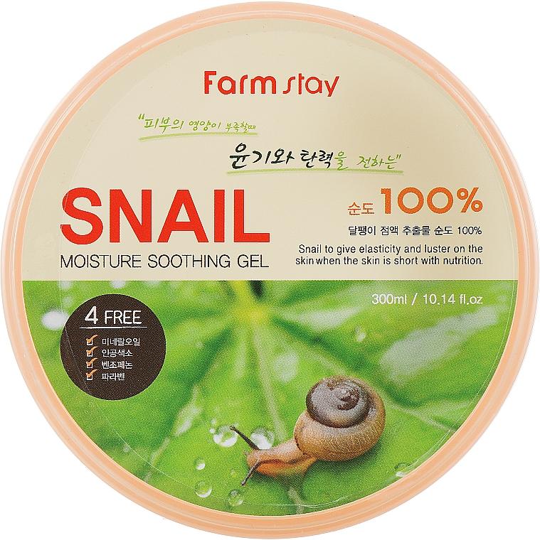 Gel hidratante y calmante con baba de caracol - FarmStay Moisture Soothing Gel Snail