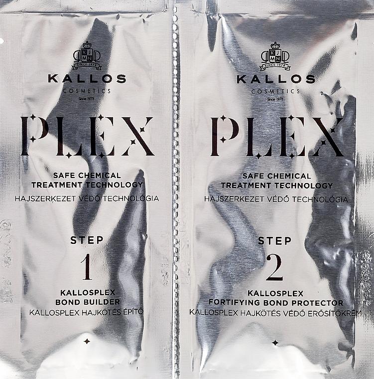 Tratamiento reparador para cabello en dos pasos - Kallos Cosmetics PLEX Safe Chemical Treatment Technology