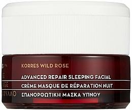 Perfumería y cosmética Crema-mascarilla facial de noche iluminadora con jugo de aloe vera - Korres Wild Rose Advanced Repair Sleeping Facial