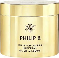 Perfumería y cosmética Mascarilla capilar con péptidos de guisante y pantenol - Philip B Russian Amber Imperial Gold Masque