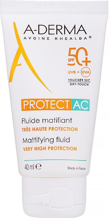 Fluido facial matificante de protección solar resistente al agua - A-Derma Protect AC Mattifying Fluid SPF 50