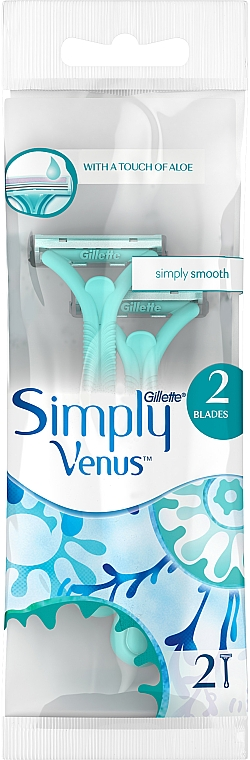 Maquinillas de depilar desechables, 2uds. - Gillette Venus 2 Satin Care