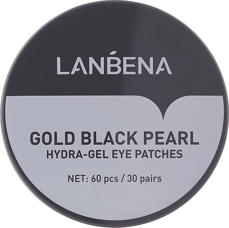 Parches de hidrogel para contorno de ojos con colágeno - Lanbena Gold Black Pearl Collagen Eye Patch