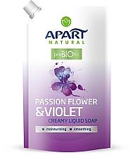 Perfumería y cosmética Jabón líquido con pasiflora y violeta (recarga doypack) - Apart Natural Passion Flower & Violet Soap