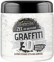 Perfumería y cosmética Gel de fijación extra fuerte con ácido hialurónico y proteínas de seda - Bielenda GRAFFITI 3D Extra Strong Stayling Hair Gel