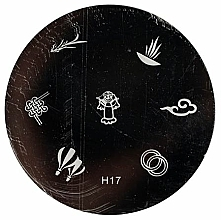 Perfumería y cosmética Placa para estampado de uñas, H17 - Ronney Professional