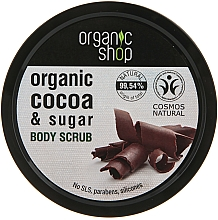 Perfumería y cosmética Exfoliante corporal orgánico con manteca de cacao y azúcar & aroma a chocolate - Organic Shop Body Scrub Organic Cocoa & Sugar