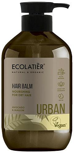 Acondicionador nutritivo para cabello seco, aguacate y malva - Ecolatier Urban Hair Balm