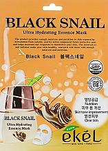 Perfumería y cosmética Mascarilla facial de tejido hidratante con baba de caracol negro - Ekel Black Snail Ultra Hydrating Essence Mask