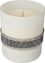 Perfumería y cosmética Vela aromática negra y blanca 8x9,5cm - Artman Crystal Glass