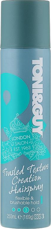Laca para cabello con linalol, fijación flexible - Toni & Guy Casual Flexible Hold Hair Spray