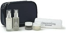 Perfumería y cosmética Set facial - Omorovicza Essentials (tónico facial/30ml + crema iluminadora/30ml + bálsamo limpiador /15 ml + crema de noche/15ml + toalla + neceser)