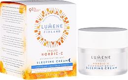 Perfumería y cosmética Crema de noche con ácido hialurónico y extracto de alga - Lumene Valo Overnight Bright Vitamin C Sleeping Cream