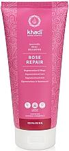 Perfumería y cosmética Champú reparador con extracto de rosa damascena - Khadi Shampoo Rose Hair Repair