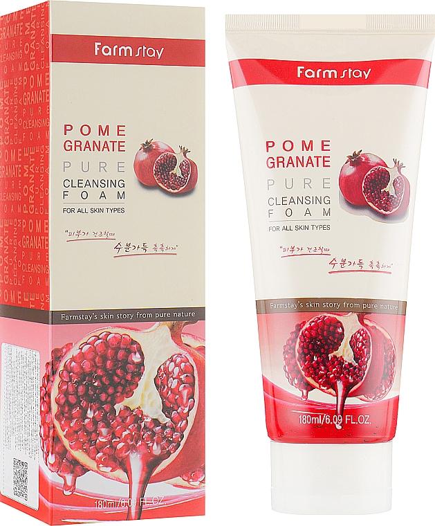 Espuma facial limpiadora con extracto de granada - Farmstay Pomegranate Pure Cleansing Foam
