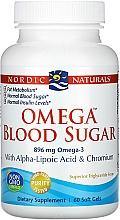 Perfumería y cosmética Complemento alimenticio en cápsulas de Omega Blood Sugar, 896 mg - Nordic Naturals Omega Blood Sugar