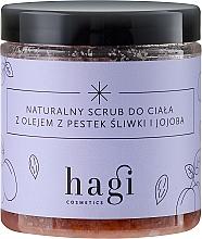 Perfumería y cosmética Exfoliante corporal natural con aceite de jojoba y ciruela - Hagi Scrub