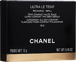 Perfumería y cosmética Chanel Ultra Le Teint Ultrawear All-Day Comfort Flawless Finish Compact Foundation (bloque de recambio) - Base de maquillaje compacta