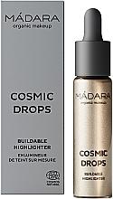 Perfumería y cosmética Iluminador líquido para rostro y cuerpo, vegano - Madara Cosmetics Cosmic Drops Buildable Highlighter