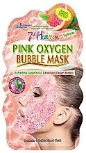 Perfumería y cosmética Mascarilla facial de tejido con extracto de pomelo, efecto burbujas - 7th Heaven Pink Oxygen Bubble Mask