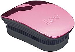 Perfumería y cosmética Cepillo de pelo desenredante - Ikoo Pocket Rose Metallic Black